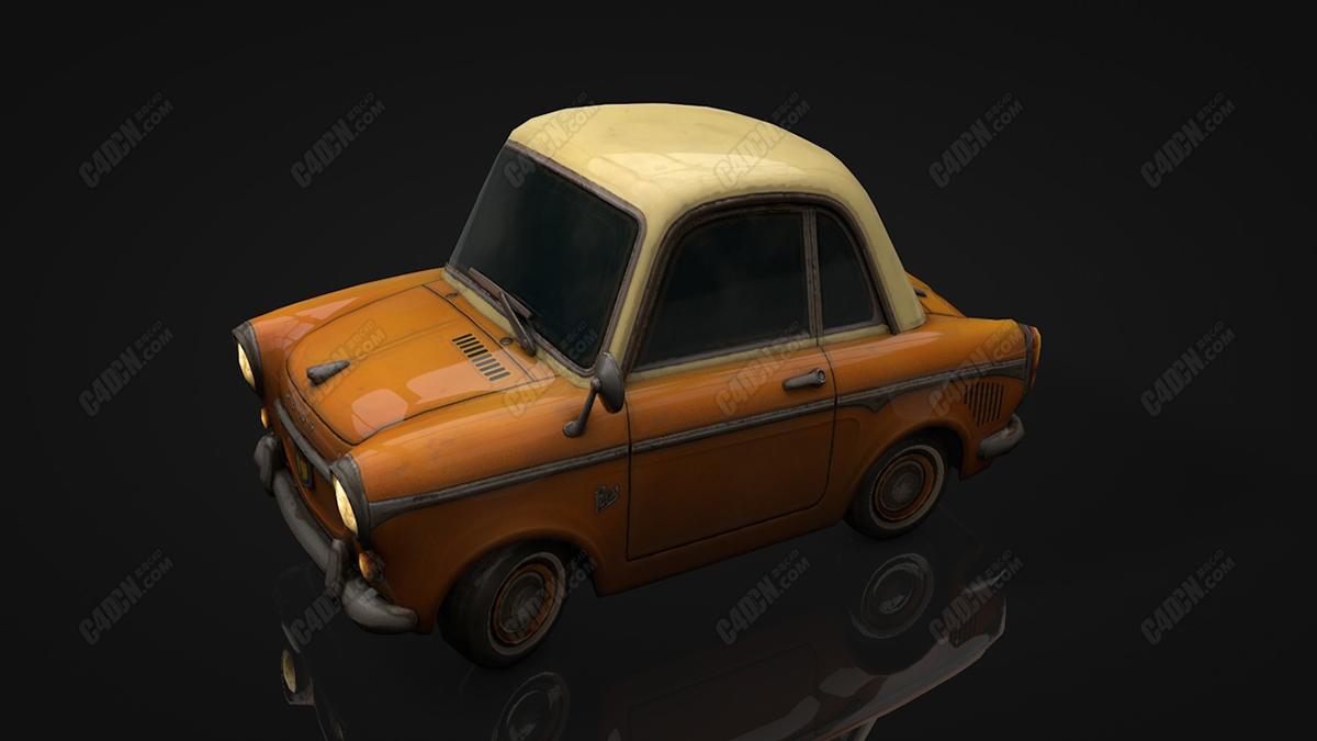 C4D卡通小汽车复古老爷车汽车模型 Inspector model