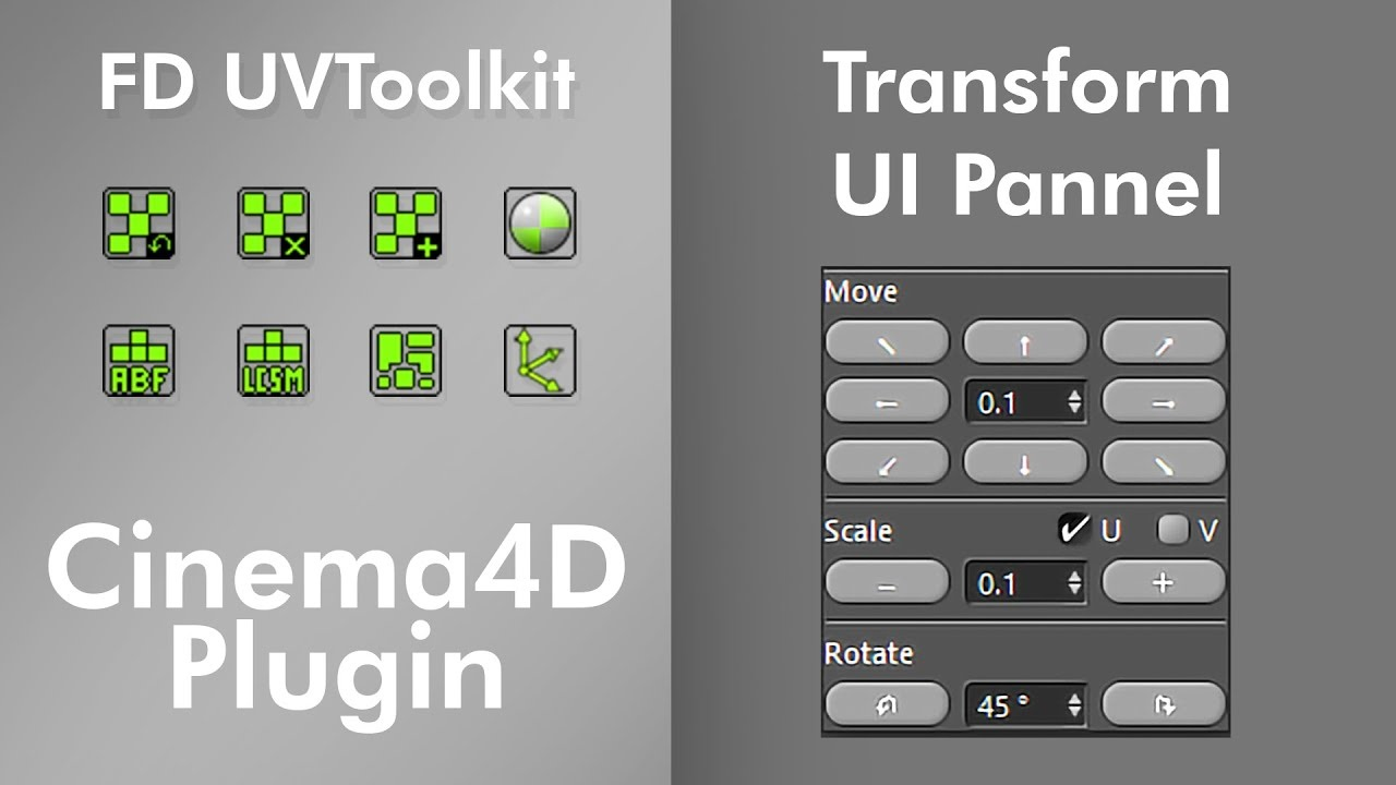 C4D插件 超级展UV编辑插件 FD UVToolkit 1.0 for C4D R15-21