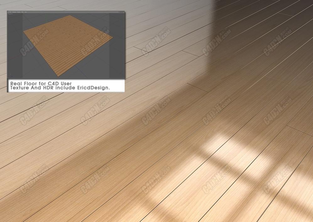 C4D材质 写实逼真室内设计木质地板纹理 REAL FLOOR ERICDESIGN2K10