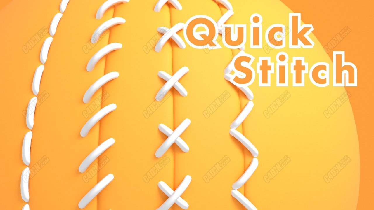 C4D快速缝线针线插件 Quick Stitch plugin for Cinema4D
