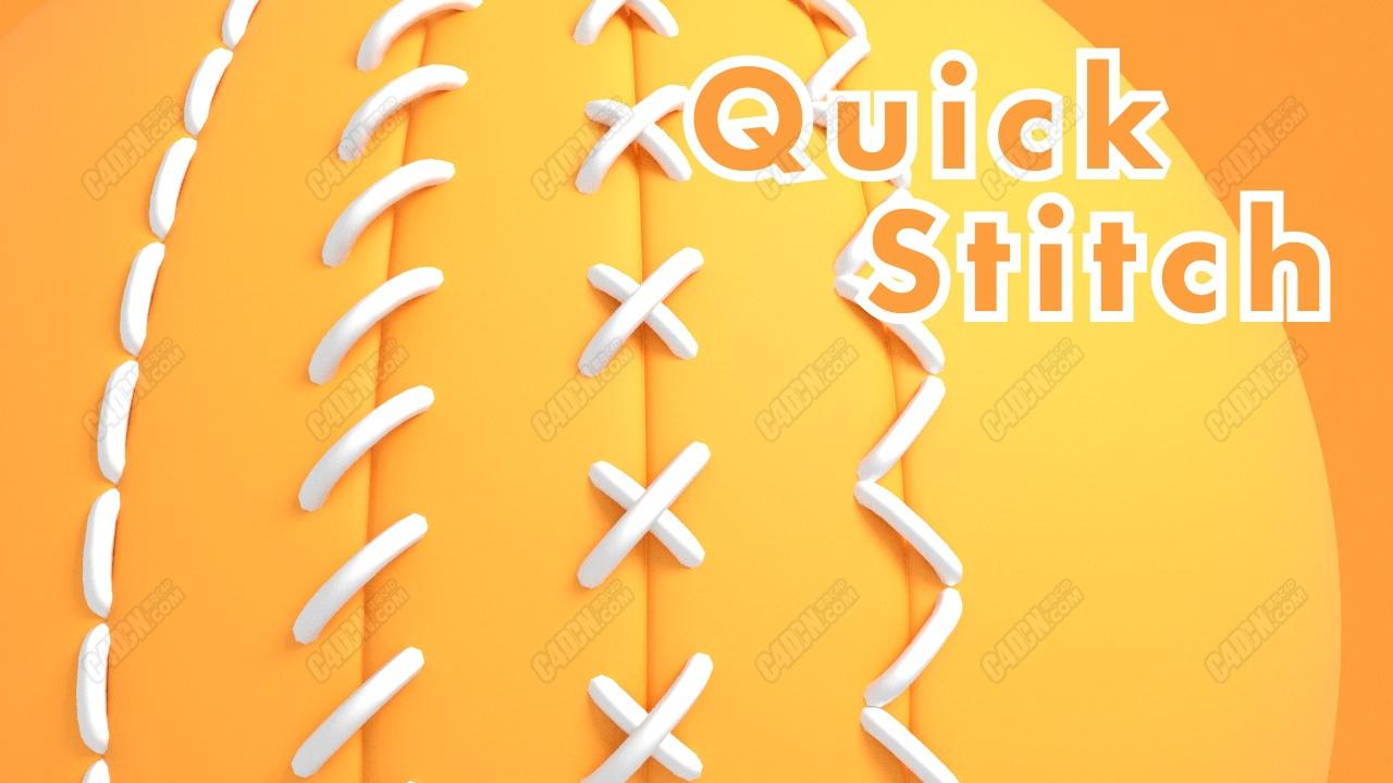 C4D快速縫線針線插件 Quick Stitch plugin for Cinema4D