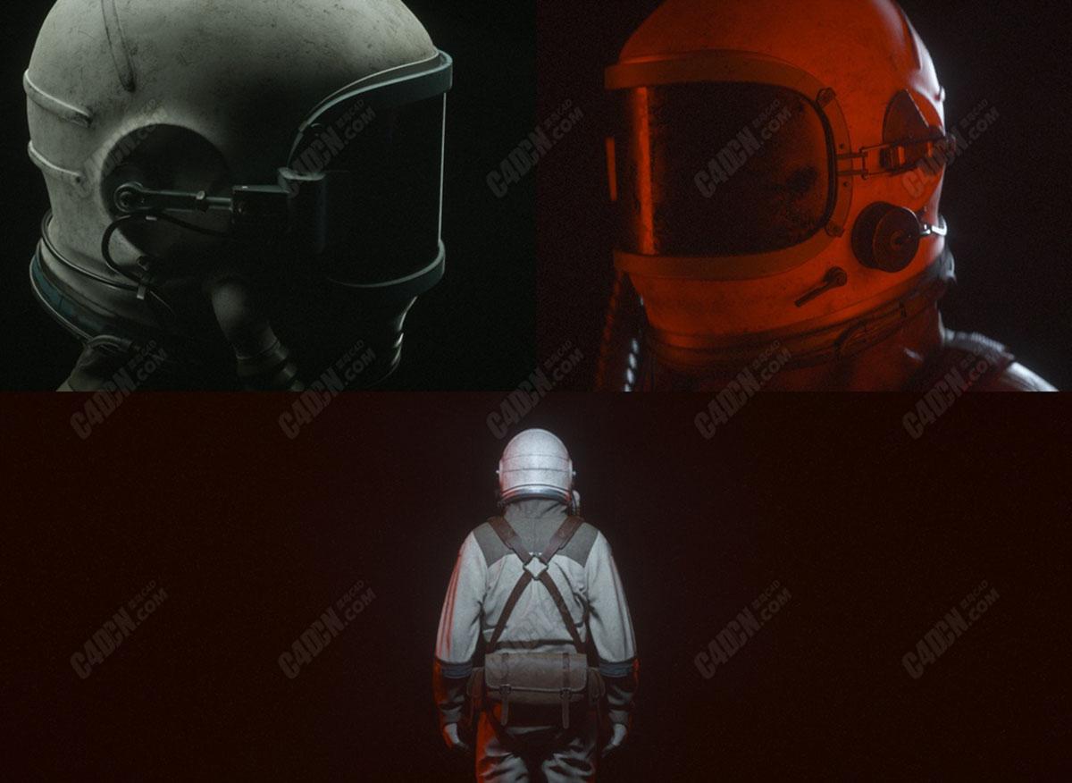 C4D科幻宇航员模型 Sci-Fi Astronaut C4D Model