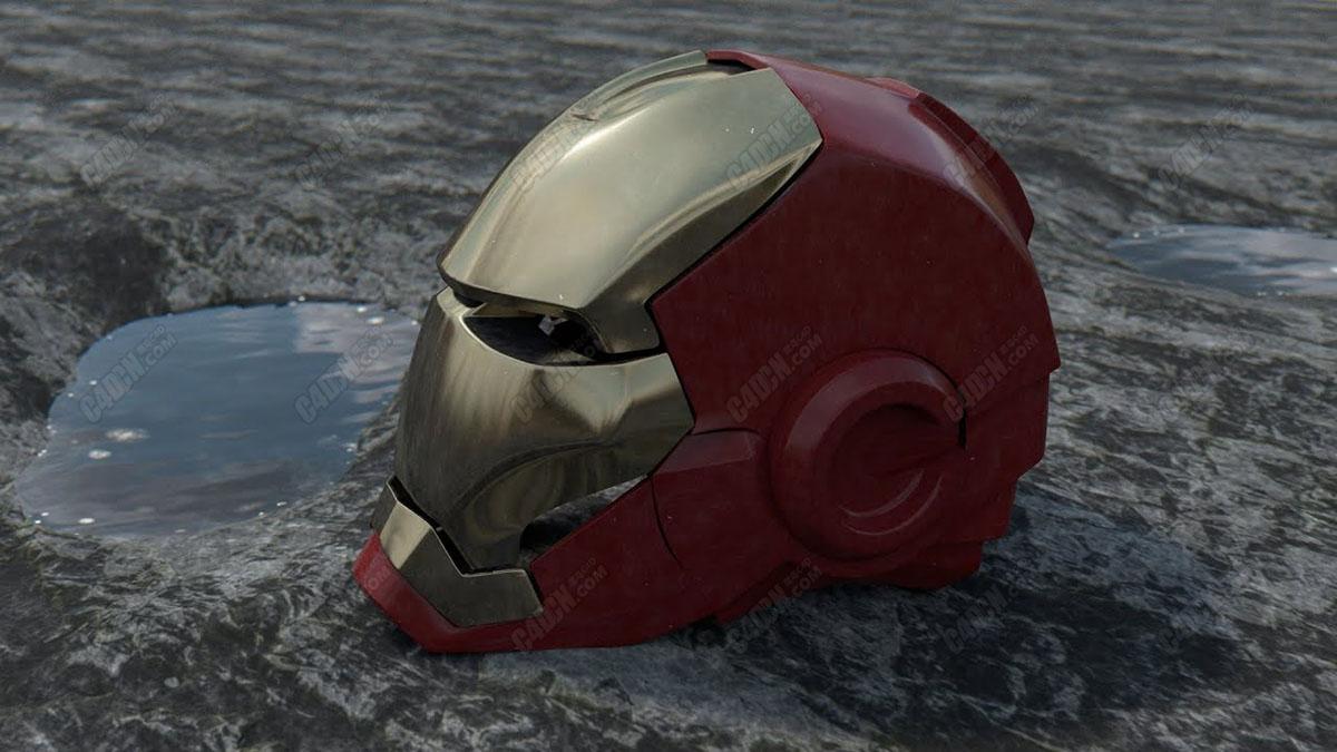C4D自带物理渲染器钢铁侠金属材质渲染教程