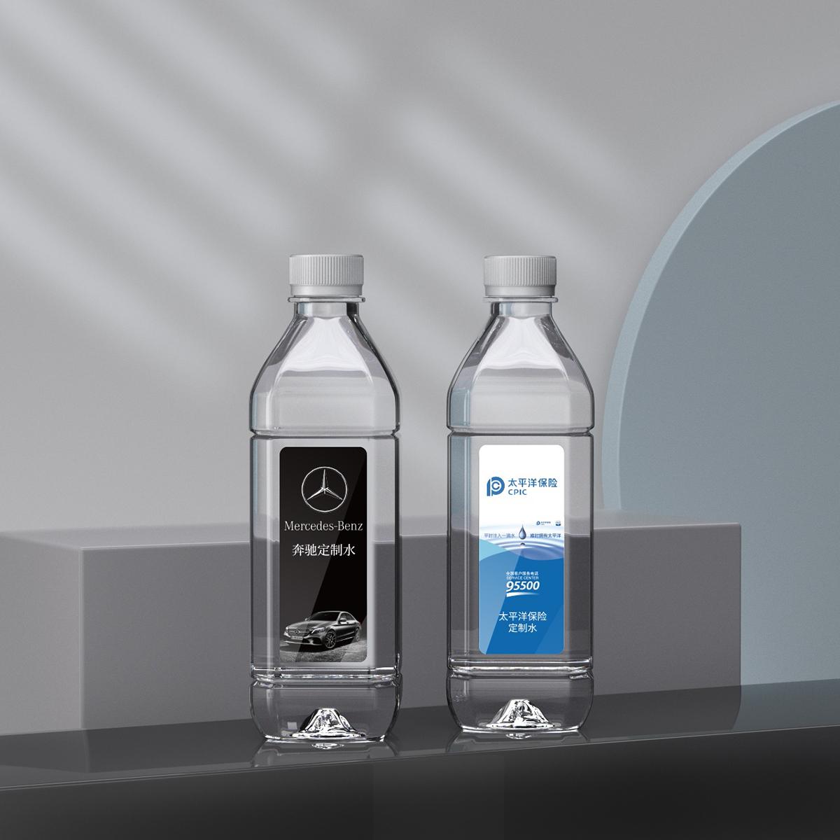 矿泉水透明材质渲染