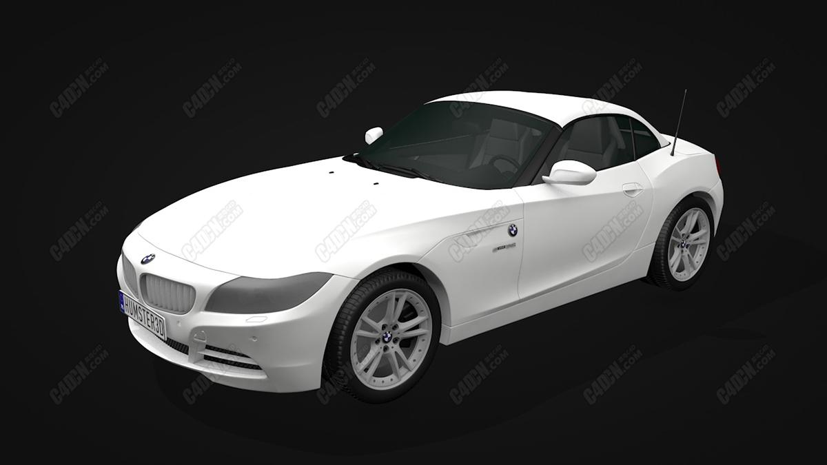 C4D宝马牌Z4轿跑汽车模型 BMW Z4 2010 C4D Model
