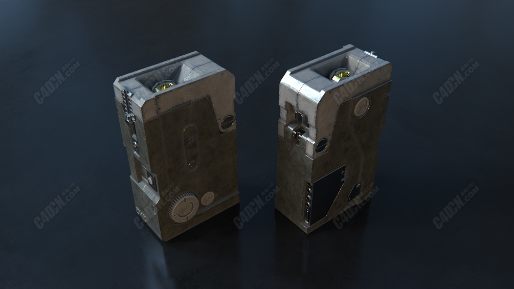 fusion360机械零件产品建模Octane渲染器材质C4D教程[倍速]