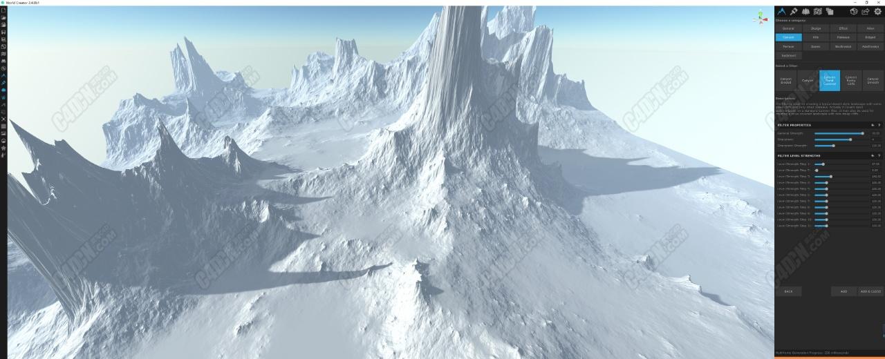 三维程序化地形软件World Creator 2.4.0 B1 Win和谐版