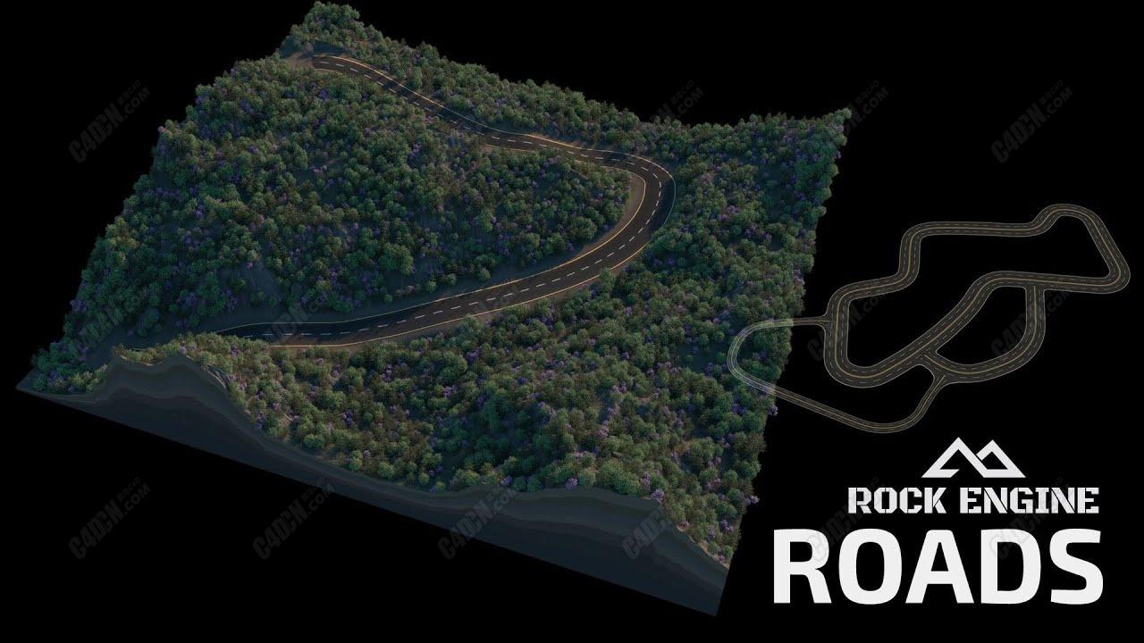 C4D公路岩石引擎插件教程 Rock Engine