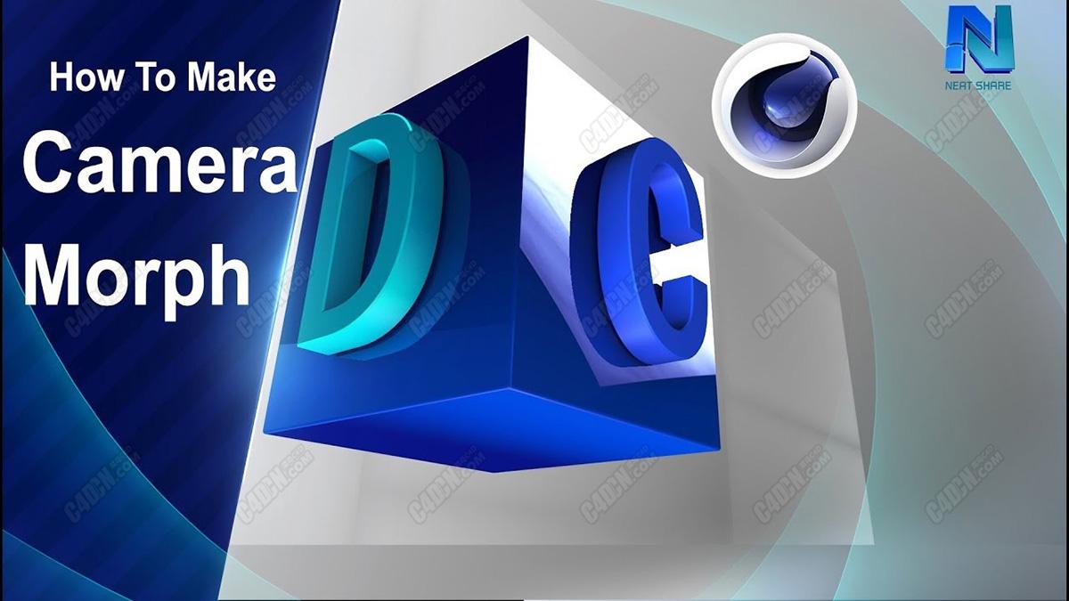 C4D教程-攝像機變形旋轉動畫 Cinema 4d Tutorial   Camera Morph