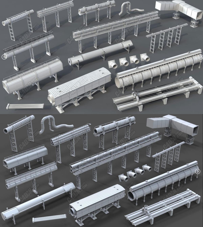 15组C4D工业管道模型包