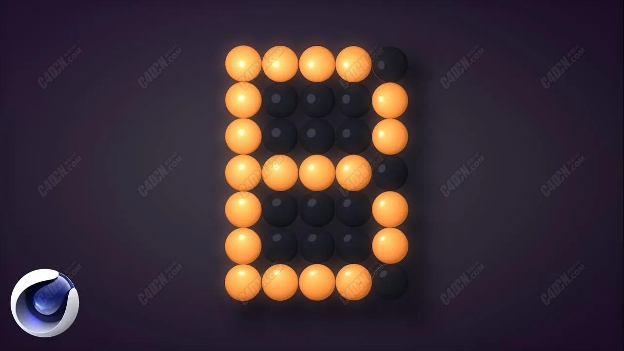 C4D S22教程-字母翻轉動畫變化 Cinema 4D S22 - Animation Alphabet Led