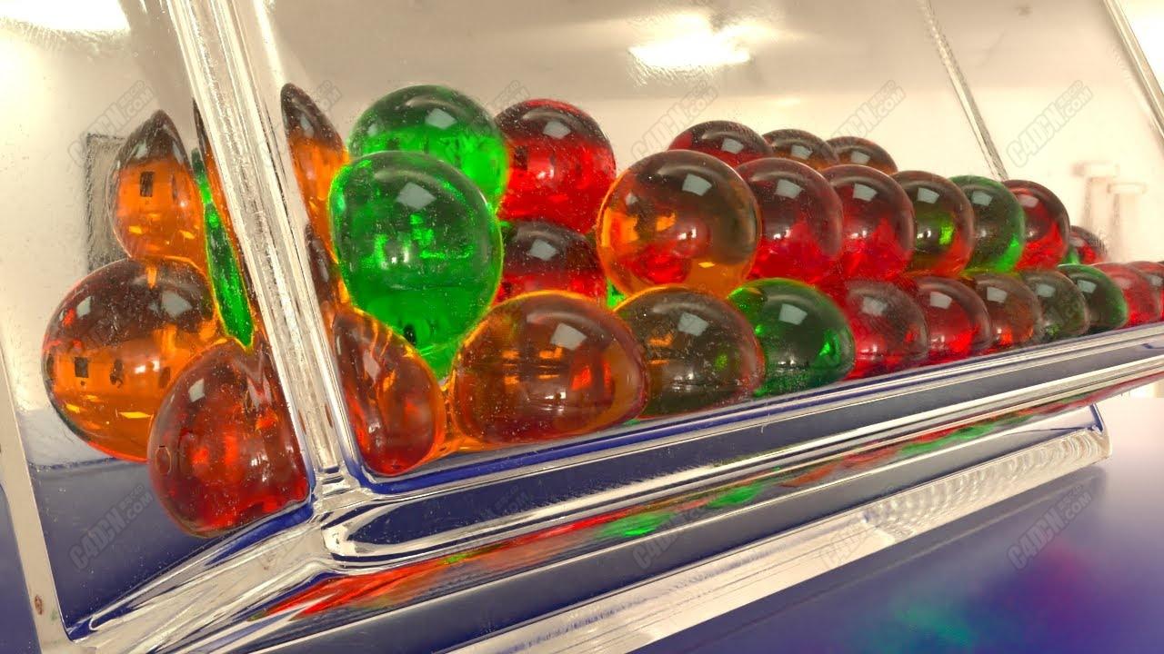 Octane渲染器軟糖玻璃盒子材質C4D教程