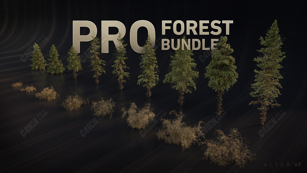 森林草地植物模型包 PRO Forest Bundle