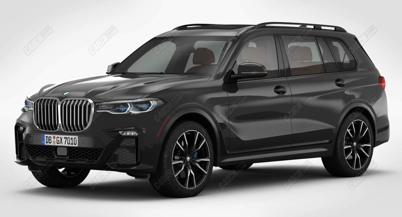2019款宝马X7大型SUV越野车C4D模型