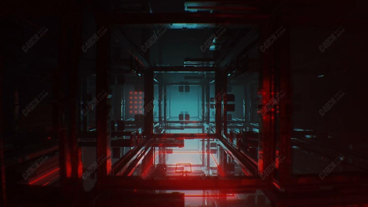 C4D科幻空间镜头迅速切换动画工程