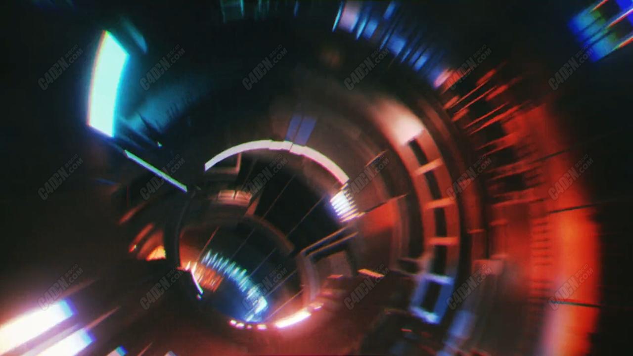 C4D光线回路动画工程 FIBER OPTICAL loop