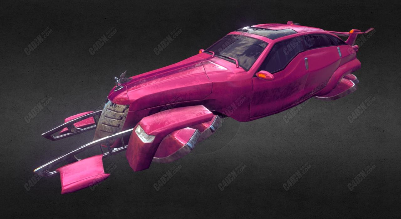 C4D未来科幻飞行汽车模型