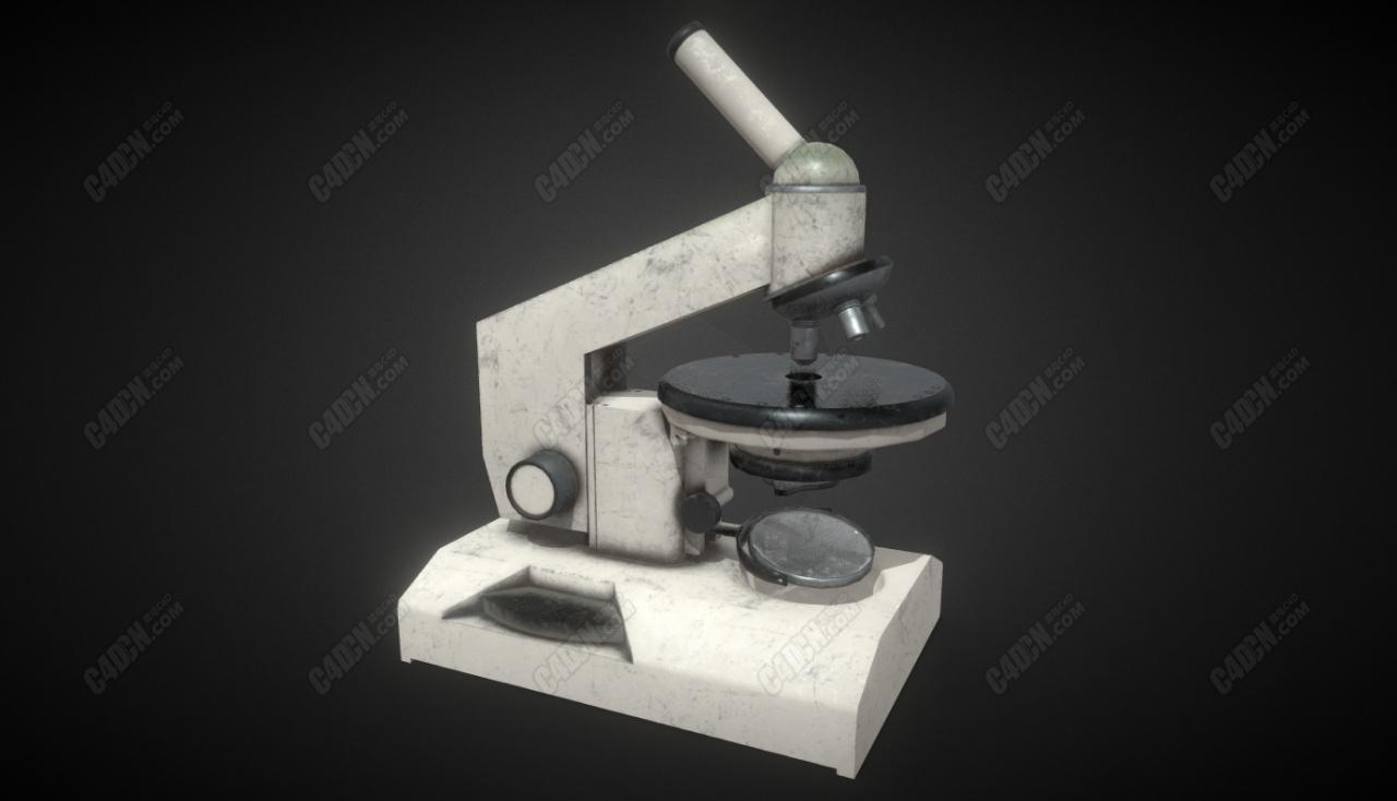 C4D苏联原子显微镜模型 soviet microscope atom
