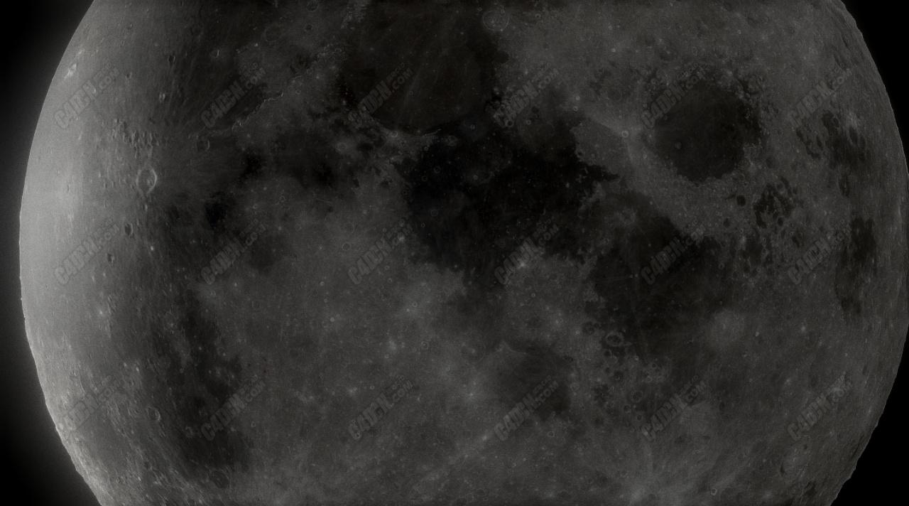C4D高清太空月球卫星模型
