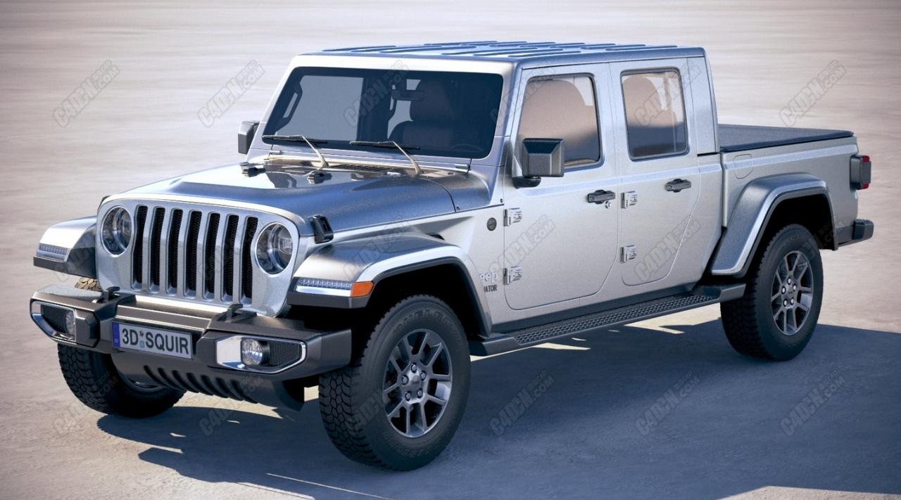 2020款吉普皮卡汽车模型 Jeep Gladiator
