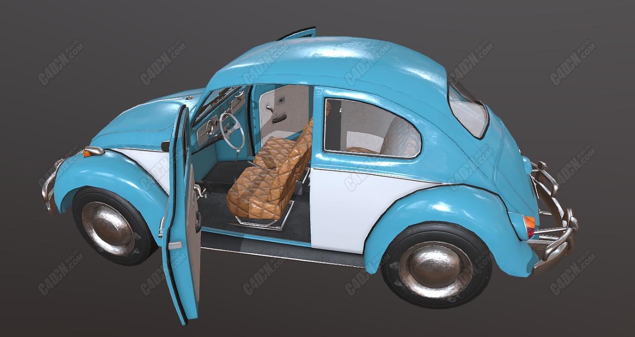 甲壳虫汽车模型 Beetle model