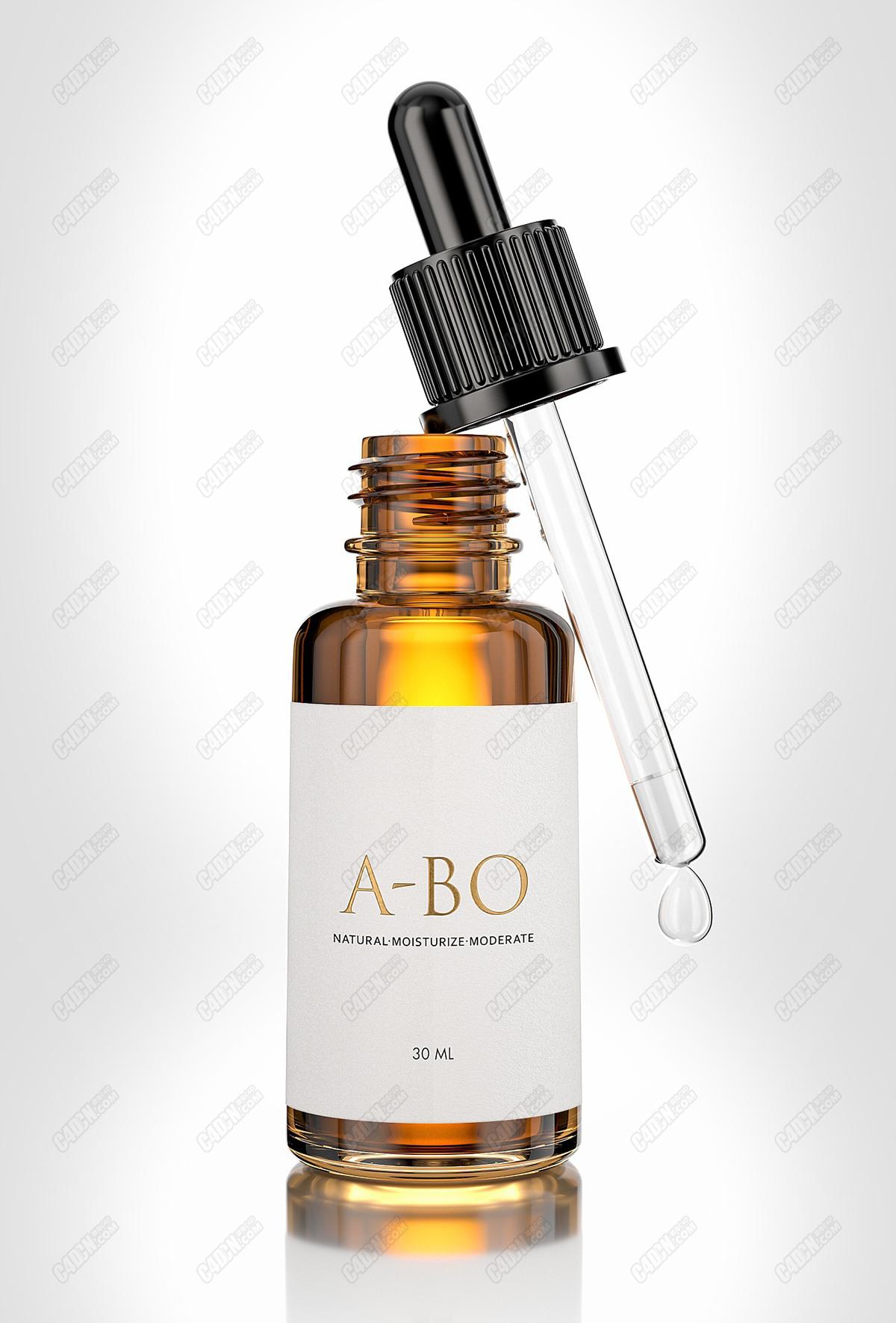 C4D精油化妆瓶渲染工程