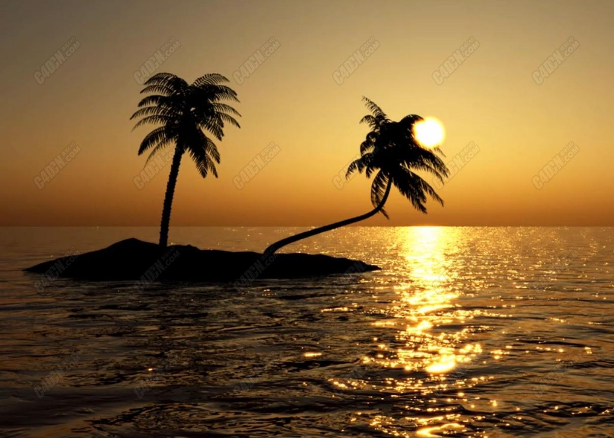 Corona渲染器创建夕阳黄昏海景天空教程