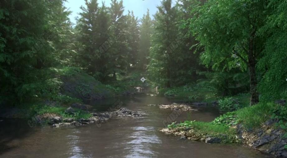 C4D+octane渲染器制作大型逼真写实的森林场景渲染教程