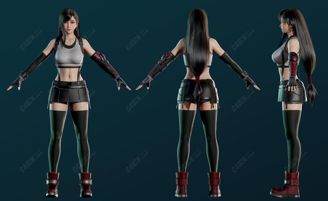 精品次世代女拳手人物模型