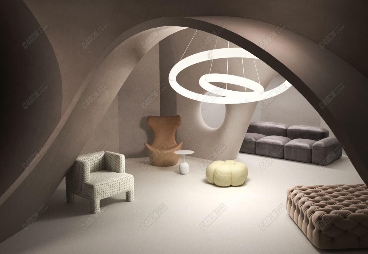 创意C4D loft室内空间渲染工程 BeInspiration 69 3D model