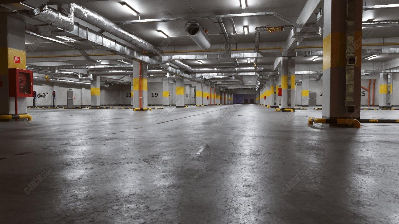 66个专业地下车库工业企业电气设备空调摄像头模型合集包