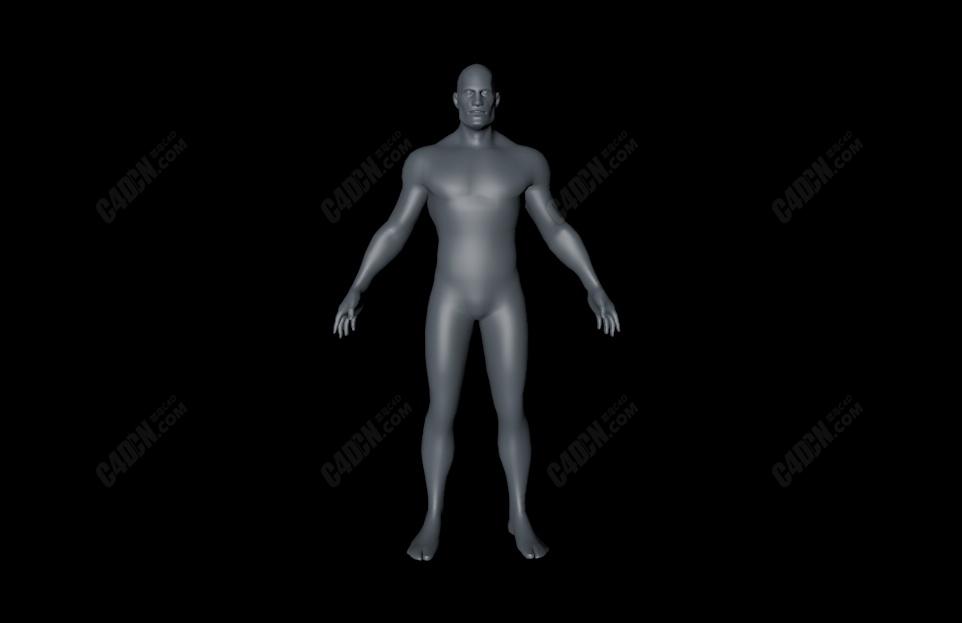 C4D基础男人模型 Male Base  Mesh
