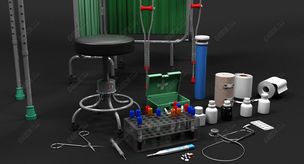 20套医院手术医用设备模型合集