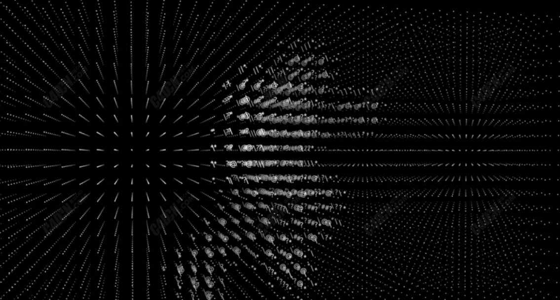 C4D非常酷的全息点阵效果渲染教程