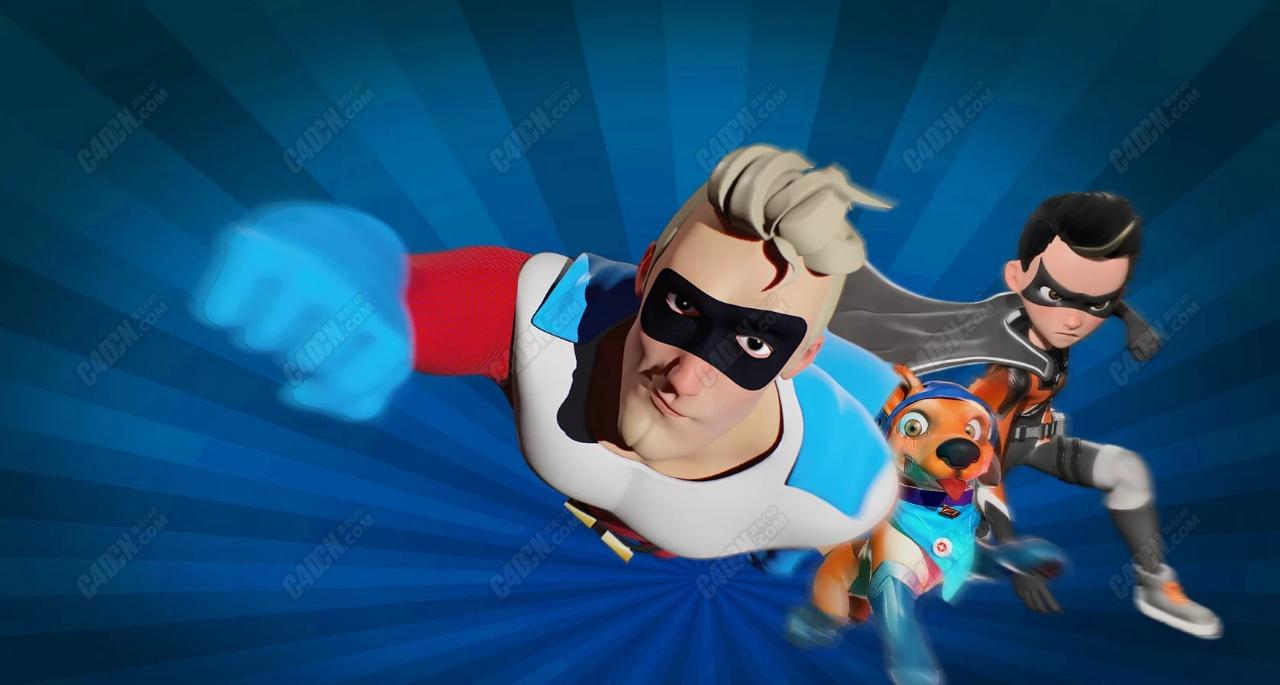 zbrush雕刻超级英雄卡通模型合集