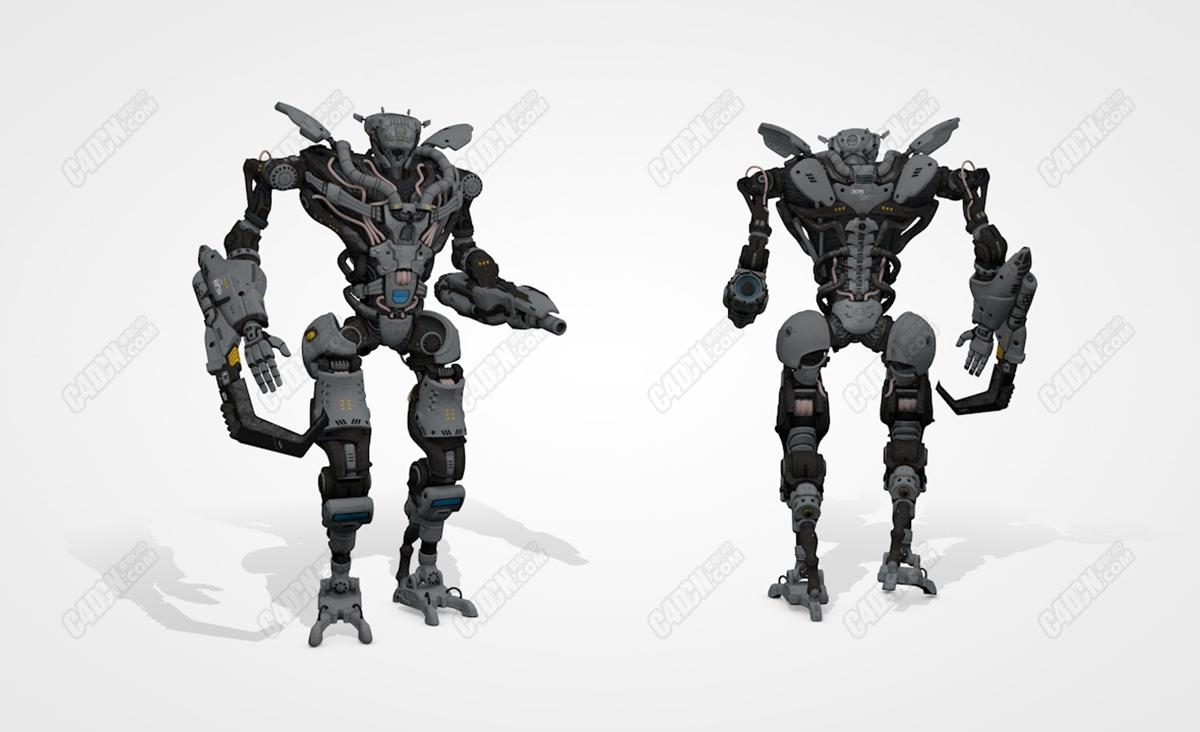 未来科幻作战机器人模型 Collossus C4D model