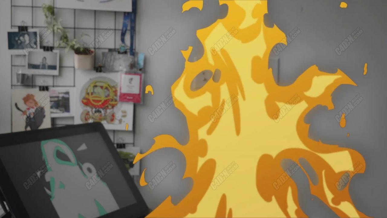 如何使用Animate(FLASH)制作卡通火焰动画教程