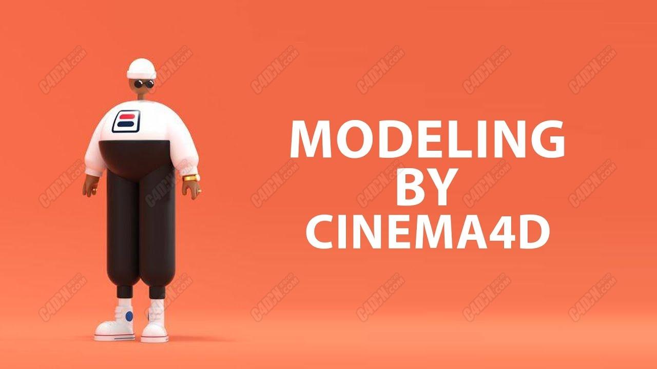 C4D卡通男人角色建模材质渲染教程 Character Modeling tutorial