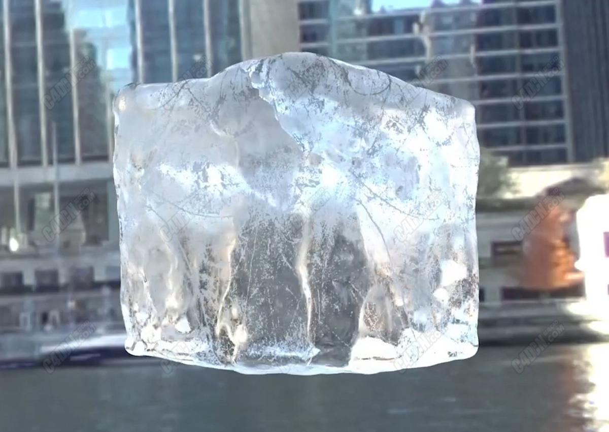 红移渲染器C4D逼真写实冰块材质渲染教程 Ice Cube Shader with Redshift