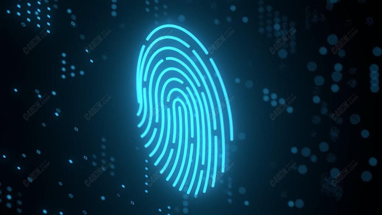 C4D全息拇指动画合成指纹密钥渲染教程