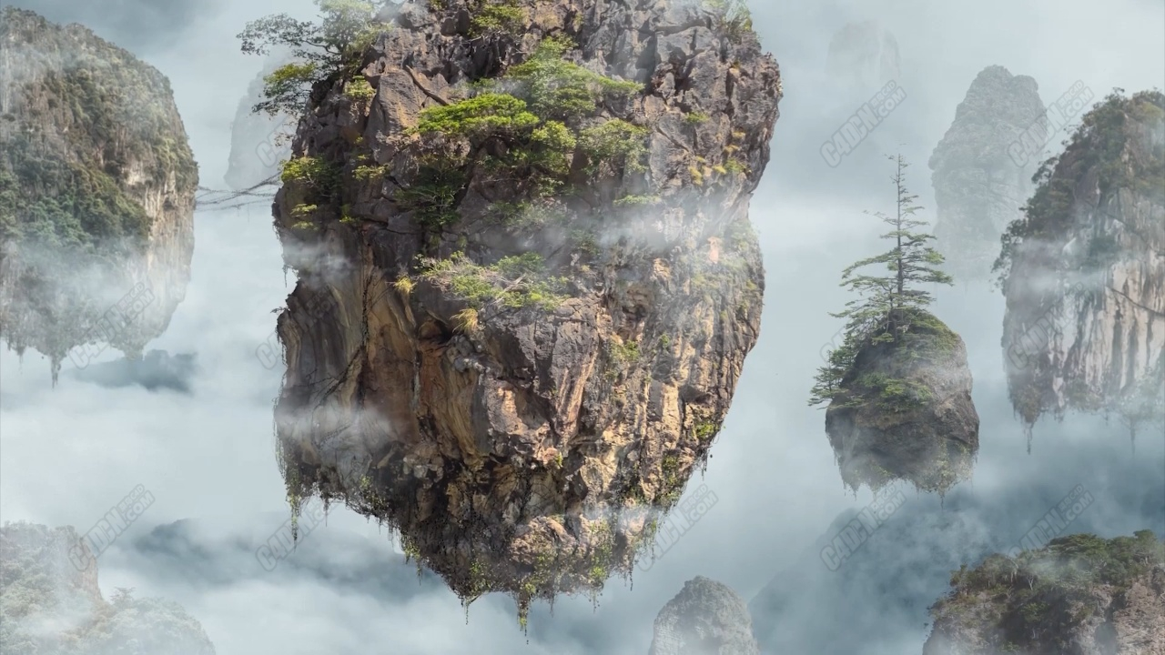 AE+PS制作电影阿凡达悬浮山场景特效合成教程 Animate a Composite Image in After Effects