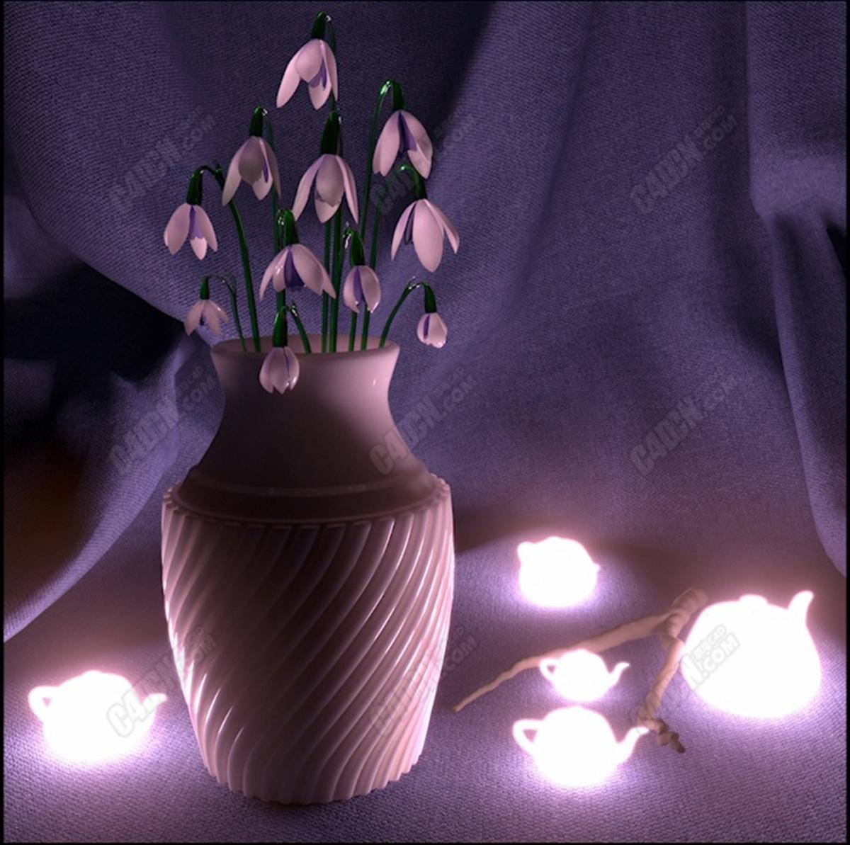 MAX软件vray室内渲染器灯光材质精修教程
