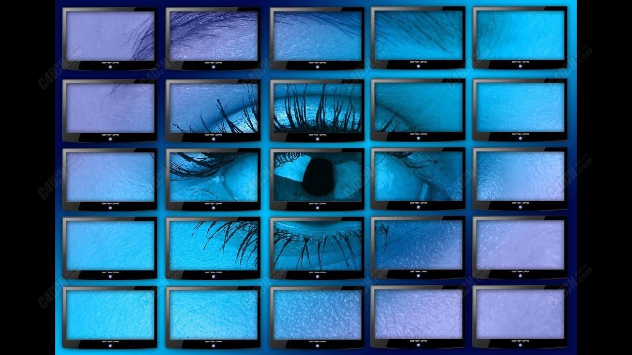 C4D轻松模拟商场电视墙效果教程