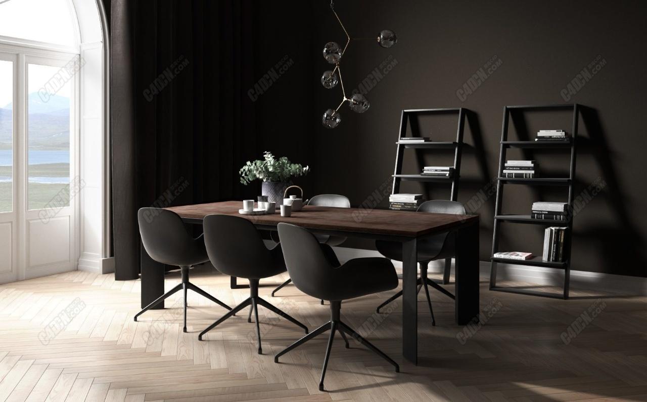 精品C4D餐厅室内模型 beinspiration 96
