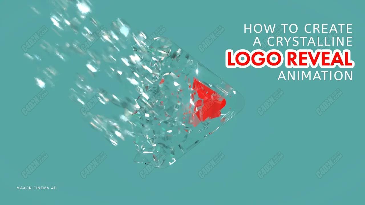 C4D如何制作水晶玻璃LOGO动画演绎教程 Create a Crystalline Logo Reveal Animation