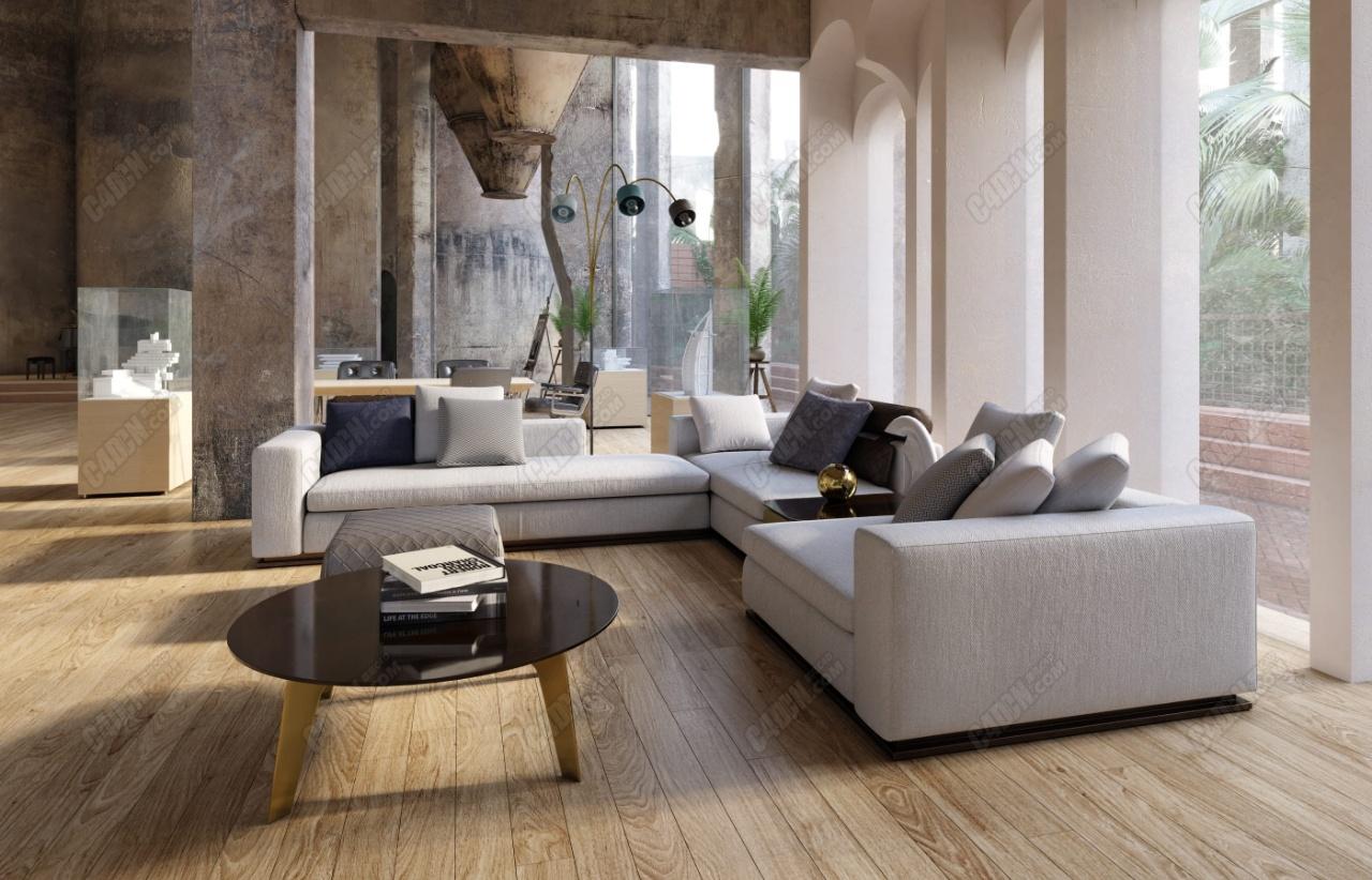 20组优质沙发组合现代家具模型合集