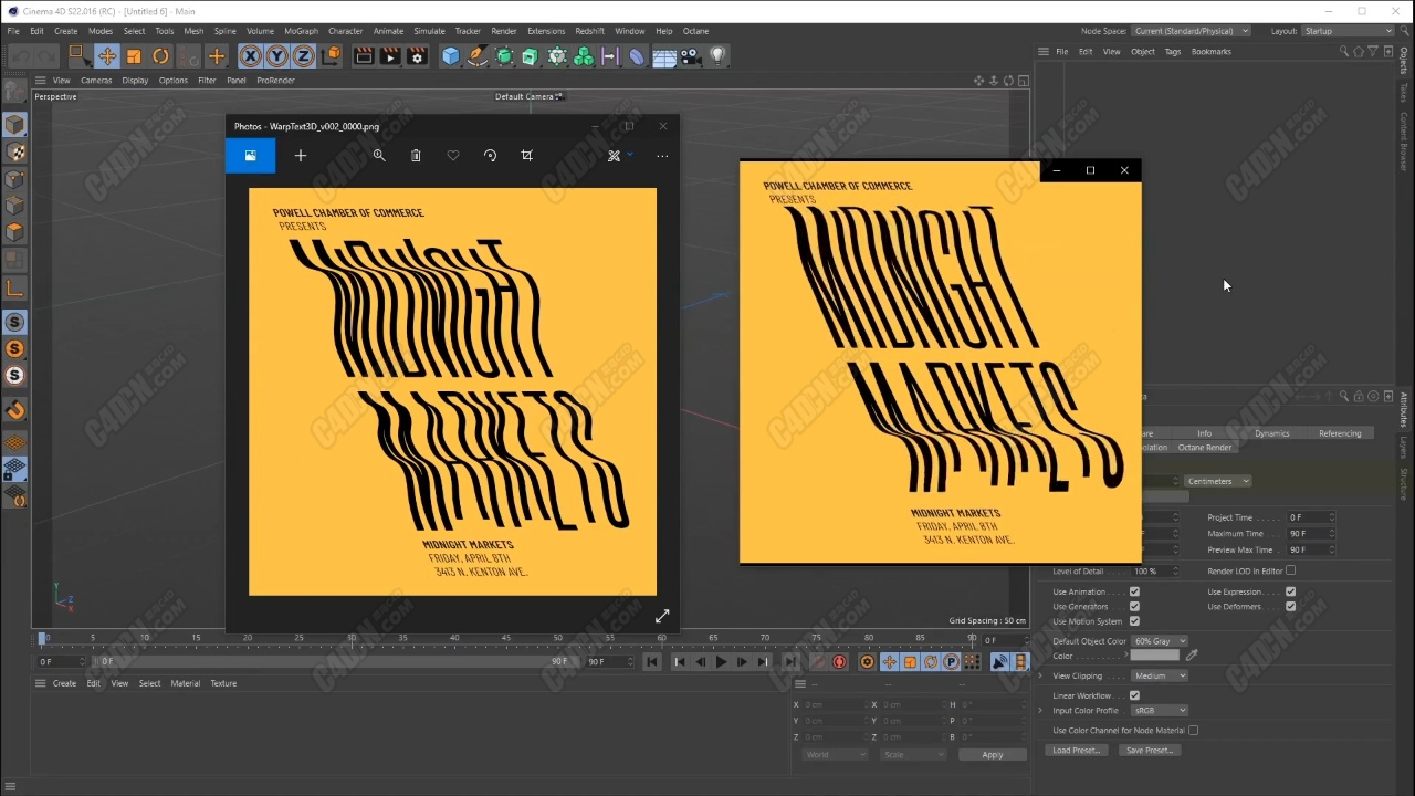 C4D旗帜飘扬文字动画教程 Lets Warp Text With Mograph In Cinema 4D
