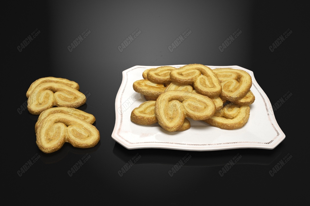 C4D紧箍咒面包圈小甜点模型