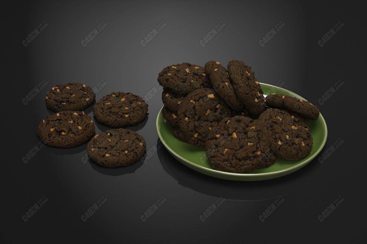 C4D巧克力曲奇饼干模型