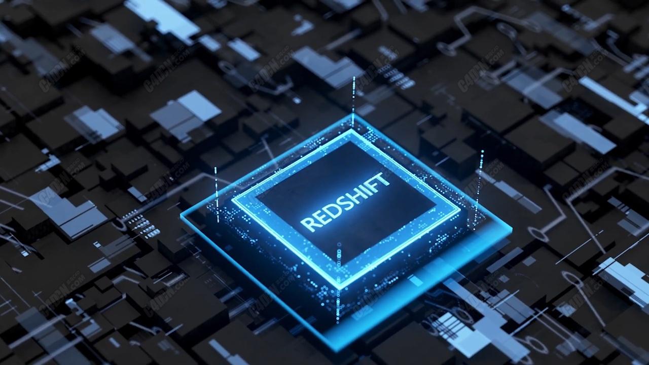 C4D Redshift渲染器科幻电脑处理器建模渲染教程